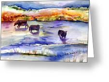 Pastureland Greeting Card