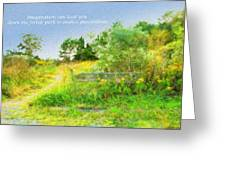 Pathway To The River Greeting Card