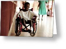 Patient In A Wheelchair Greeting Card