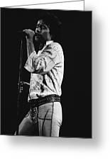 Paul Singing In Spokane 1977 Greeting Card