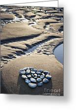 Pebble Beach Heart Greeting Card