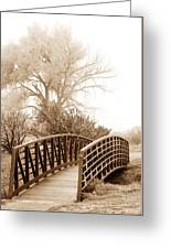 Pedestrian Bridge Greeting Card