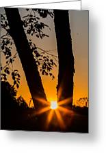 Peeking Sun Greeting Card