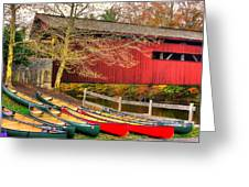 Pennsylvania Country Roads - Bowmansdale - Stoner Covered Bridge Over Yellow Breeches Creek - Autumn Greeting Card