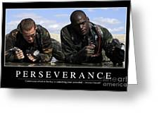 Perseverance Inspirational Quote Greeting Card