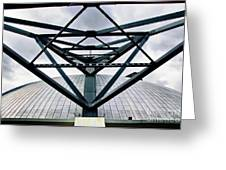 Perspectives Mellon Arena Greeting Card by Amy Cicconi