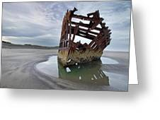 Peter Iredale At Dawn Greeting Card