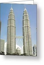 Petronas Twin Towers In Malaysia Greeting Card
