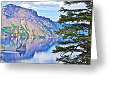 Phantom Ship Overlook In Crater Lake National Park-oregon Greeting Card