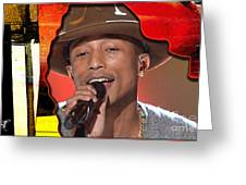 Pharrell Williams Greeting Card