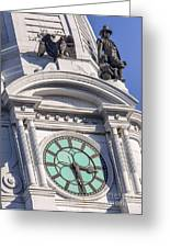 Philadelphia City Hall Clock Greeting Card