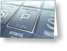 Phosphorus Chemical Element Greeting Card