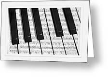Pianoforte Greeting Card