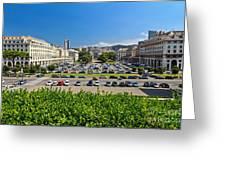 Piazza Della Vittoria - Genova Greeting Card