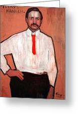 Picasso's Pedro Manach Greeting Card