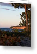 Pictured Rocks At Sunset Greeting Card