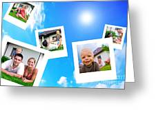 Pictures Of Happy Family Greeting Card