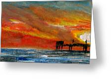 1 Pier Greeting Card