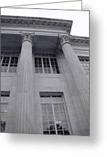 Pillars And Windows Greeting Card