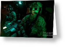 Pilots Equipped With Night Vision Greeting Card