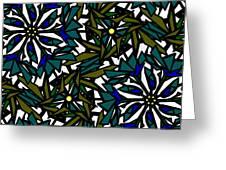 Pin-wheel Flowers Greeting Card