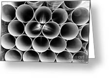 Pipes At Rest Long Island City Queens Greeting Card