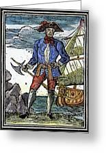 Pirate Edward England Greeting Card