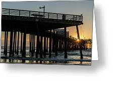 Pismo Beach Pier At Sunset, San Luis Greeting Card