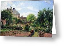 Pissarro's The Artist's Garden At Eragny Greeting Card by Cora Wandel