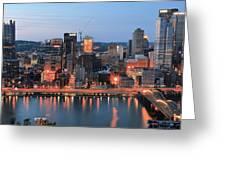 Pittsburgh At Dusk Greeting Card