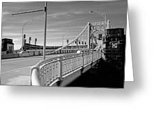 Pittsburgh - Roberto Clemente Bridge Greeting Card by Frank Romeo