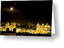 Plaza De Armas Cuzco Peru Greeting Card