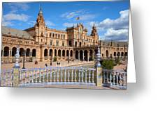 Plaza De Espana In Seville Greeting Card