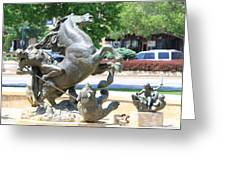 Plaza Scuptures Greeting Card