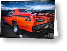 Plymouth Duster 340 Greeting Card