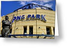 Pnc Park Baseball Stadium Pittsburgh Pennsylvania Greeting Card by Amy Cicconi