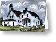 Point Iroquois Lighthouse Michigan Greeting Card