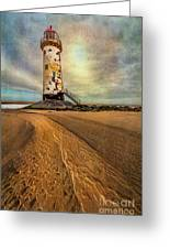 Point Of Ayre Lighthouse Greeting Card by Adrian Evans