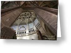 pointed vault of Saint Barbara church Greeting Card