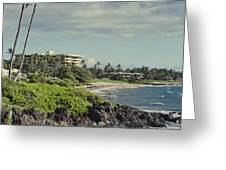 Polo Beach Wailea Point Maui Hawaii Greeting Card