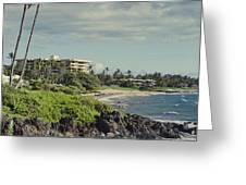 Polo Beach Wailea Point Maui Hawaii Greeting Card