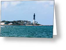 Pompano And The Hillsboro Inlet Lighthouse Greeting Card