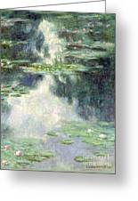 Pond With Water Lilies Greeting Card