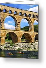 Pont Du Gard In Southern France Greeting Card