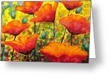 Poppy Corner Greeting Card