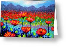 Poppy Vista Greeting Card