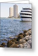 Port Of Miami Greeting Card