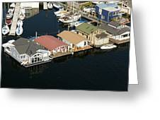 Portage Bay And Houseboats, Seattle Greeting Card