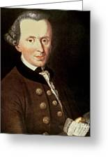 Portrait Of Emmanuel Kant Greeting Card
