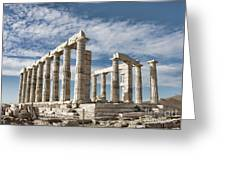 Poseidon's Temple Greeting Card by Gabriela Insuratelu